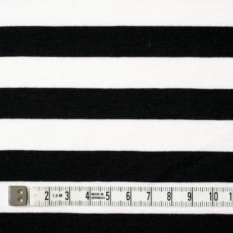 コットン×ボーダー(ホワイト&ブラック)×天竺ニット_全3色 サムネイル4