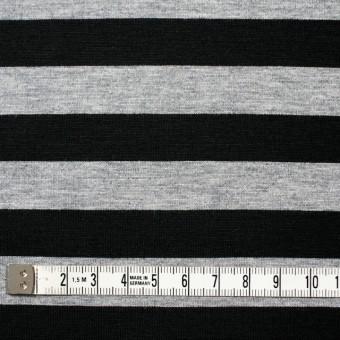 コットン×ボーダー(グレー&ブラック)×天竺ニット_全3色 サムネイル4