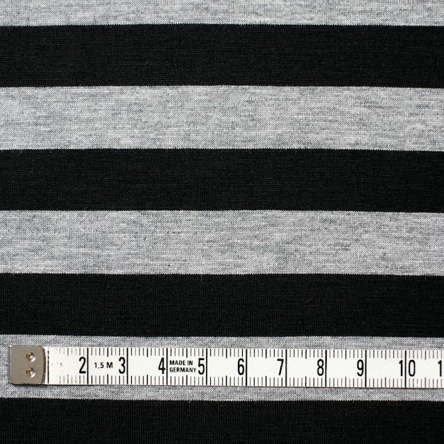 コットン×ボーダー(グレー&ブラック)×天竺ニット_全3色 イメージ4