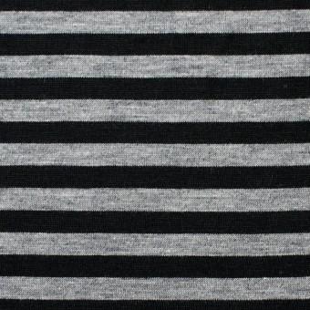 コットン×ボーダー(グレー&ブラック)×天竺ニット_全3色 サムネイル1