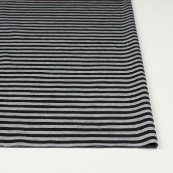 コットン×ボーダー(グレー&ブラック)×天竺ニット_全3色 サムネイル3
