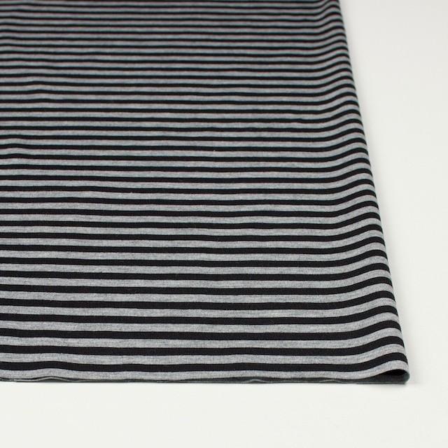 コットン×ボーダー(グレー&ブラック)×天竺ニット_全3色 イメージ3
