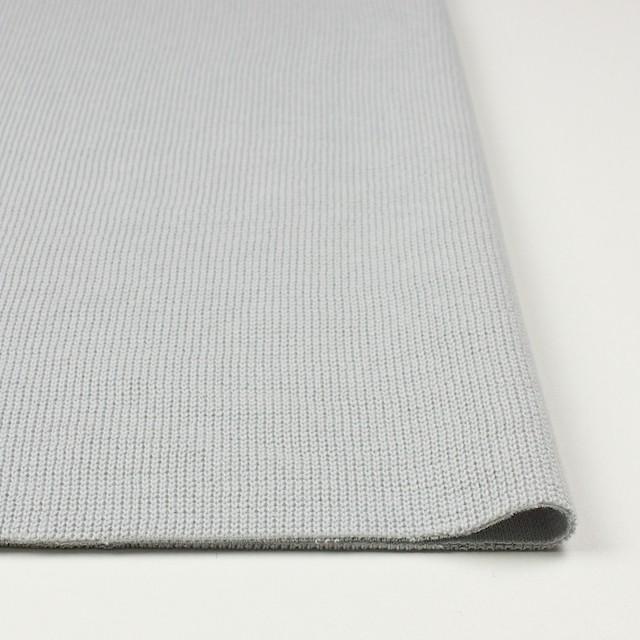 コットン×無地(ライトグレー)×Wニット イメージ3