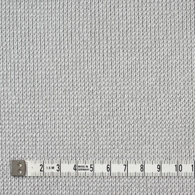 コットン×無地(ライトグレー)×Wニット イメージ4