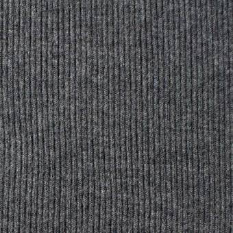 コットン×無地(チャコールグレー)×丸編みリブニット_全3色 サムネイル1
