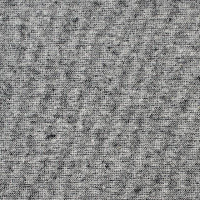 コットン×無地(杢グレー)×フライスニット イメージ1
