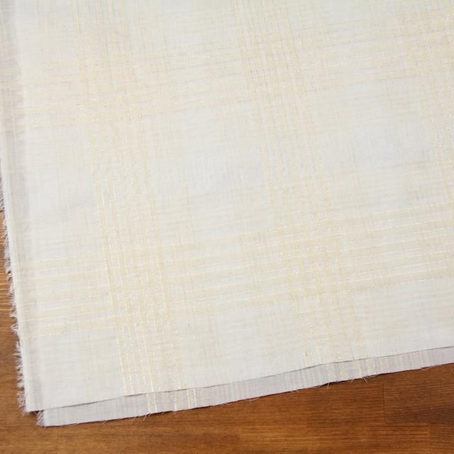 コットン&リネン混×マドラスチェック(キナリ)×ローン_全3色 イメージ2