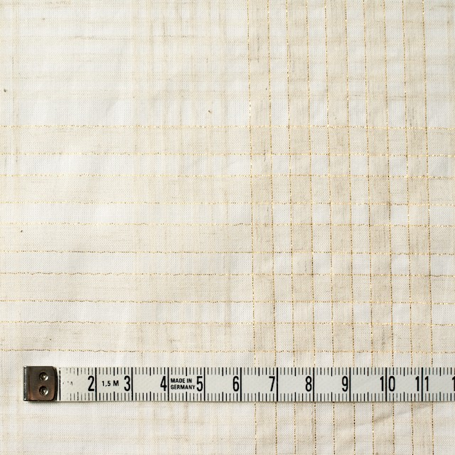 コットン&リネン混×マドラスチェック(キナリ)×ローン_全3色 イメージ4