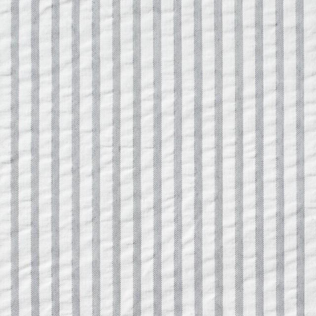 コットン×ストライプ(ライトグレー)×サッカー_全4色 イメージ1
