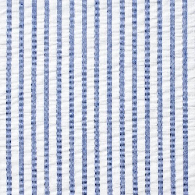 コットン×ストライプ(ブルー)×サッカー_全4色 イメージ1