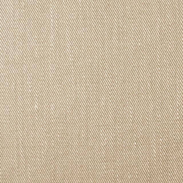 リネン&コットン混×無地(ベージュ)×サージストレッチ_全4色 イメージ1