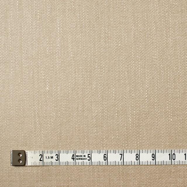 リネン&コットン混×無地(ベージュ)×サージストレッチ_全4色 イメージ4