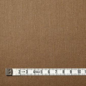 リネン&コットン混×無地(オークル)×サージストレッチ_全4色 サムネイル4