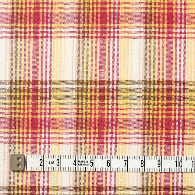 コットン×チェック(イエロー&ピンク)×ポプリン_全2色 イメージ4