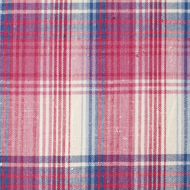 コットン×チェック(ピンク&ブルー)×ポプリン_全2色 イメージ1