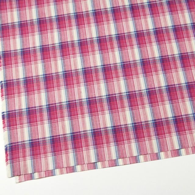 コットン×チェック(ピンク&ブルー)×ポプリン_全2色 イメージ2