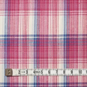 コットン×チェック(ピンク&ブルー)×ポプリン_全2色 サムネイル4