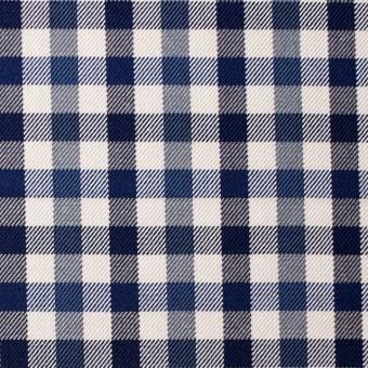 コットン×チェック(ブルーミックス)×サージ_全3色 サムネイル1