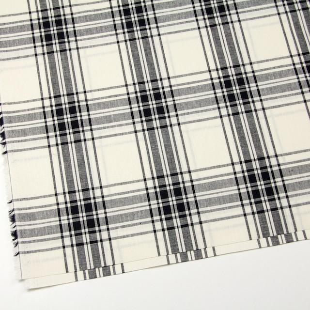 コットン&リネン混×チェック(キナリ)×シーチング_全2色 イメージ2
