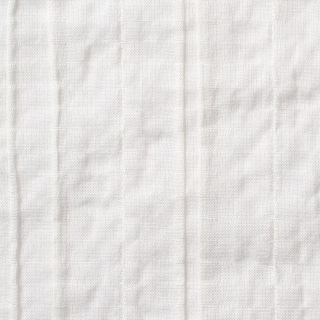 コットン&ポリウレタン×無地(オフホワイト)×ガーゼ・タテタック_全3色 イメージ1