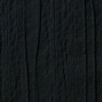 コットン&ポリウレタン×無地(ブラック)×ガーゼ・タテタック_全3色