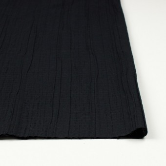 コットン&ポリウレタン×無地(ブラック)×ガーゼ・タテタック_全3色 サムネイル3