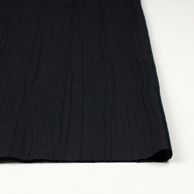 コットン&ポリウレタン×無地(ブラック)×ガーゼ・タテタック_全3色 イメージ3