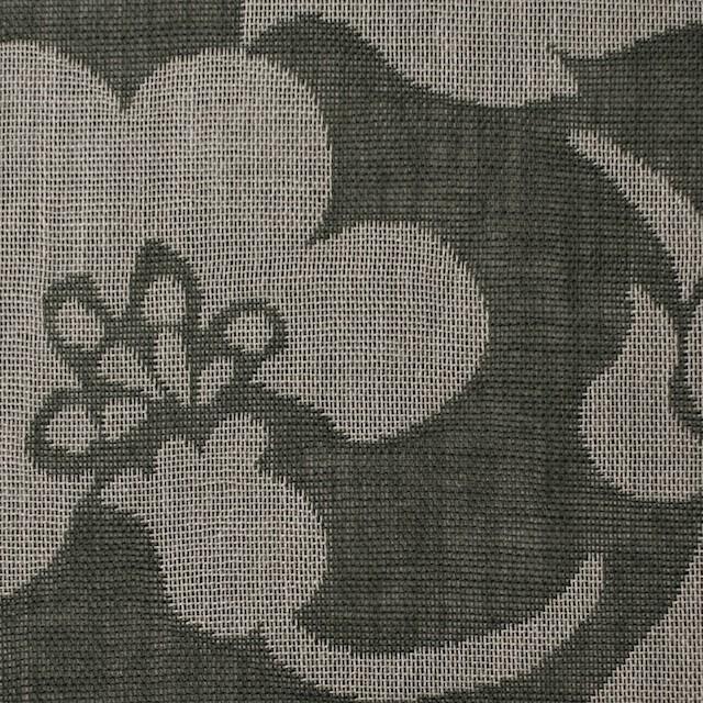 コットン×フラワー(サファリグリーン)×ガーゼ風通織 イメージ1