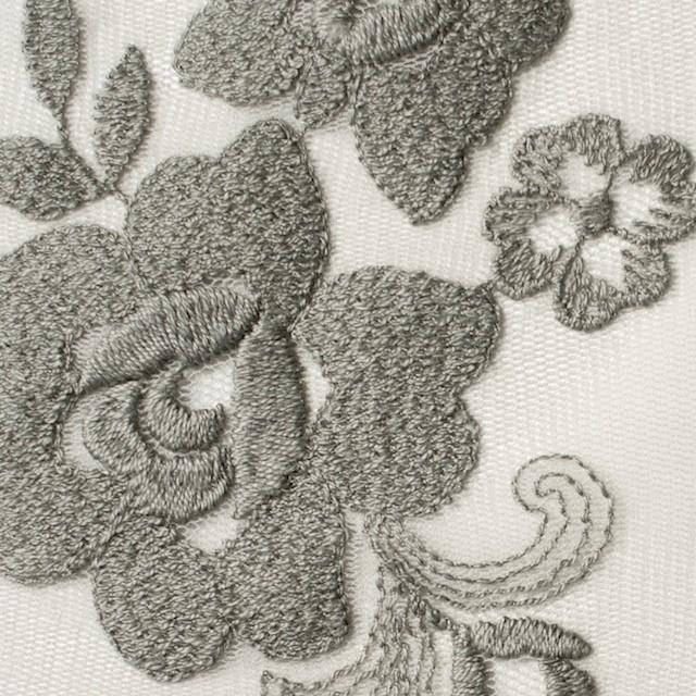 ナイロン&ポリエステル×フラワー(スレートグリーン)×チュール刺繍_全2色 イメージ1