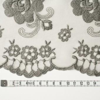 ナイロン&ポリエステル×フラワー(スレートグリーン)×チュール刺繍_全2色 サムネイル3