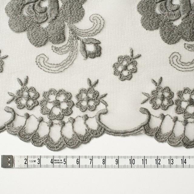 ナイロン&ポリエステル×フラワー(スレートグリーン)×チュール刺繍_全2色 イメージ3