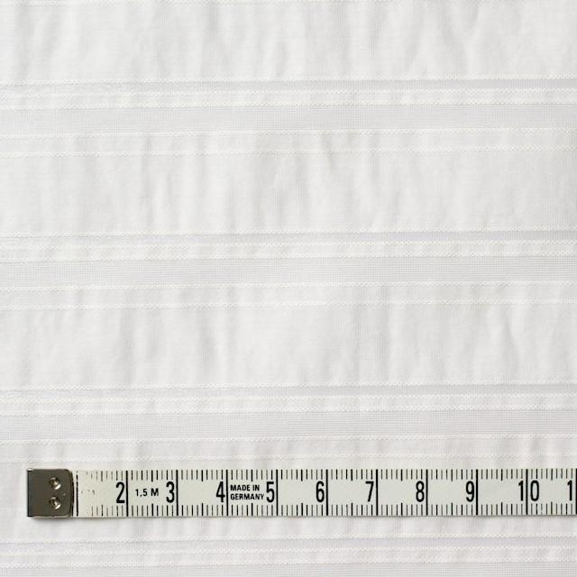 コットン&ポリエステル×ボーダー(オフホワイト)×ローン&オーガンジー_全2色 イメージ4