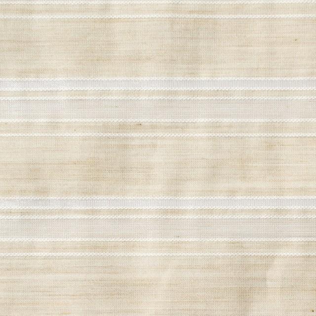 コットン&ポリエステル×ボーダー(キナリ)×ローン&オーガンジー_全2色 イメージ1