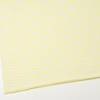 コットン&アクリル混×ボーダー(イエロー)×天竺ニット_全4色 サムネイル2
