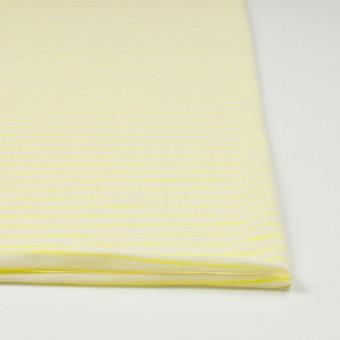 コットン&アクリル混×ボーダー(イエロー)×天竺ニット_全4色 サムネイル3