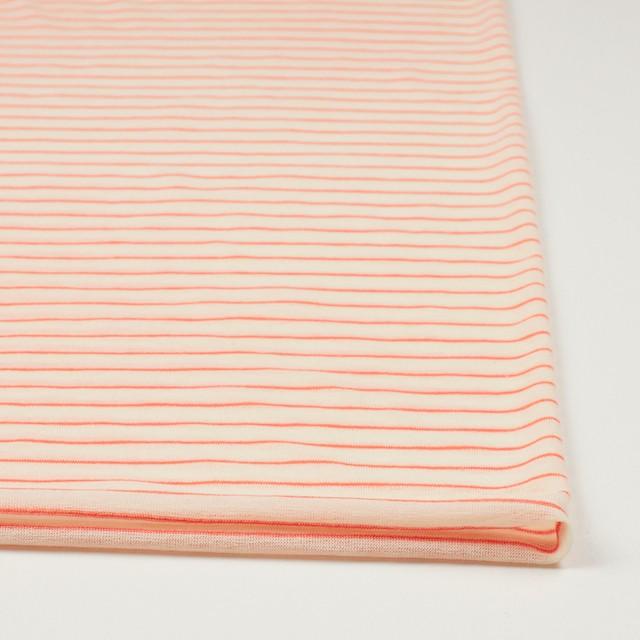 コットン&アクリル混×ボーダー(オレンジ)×天竺ニット_全4色 イメージ3