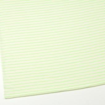 コットン&アクリル混×ボーダー(イエローグリーン)×天竺ニット_全4色 サムネイル2
