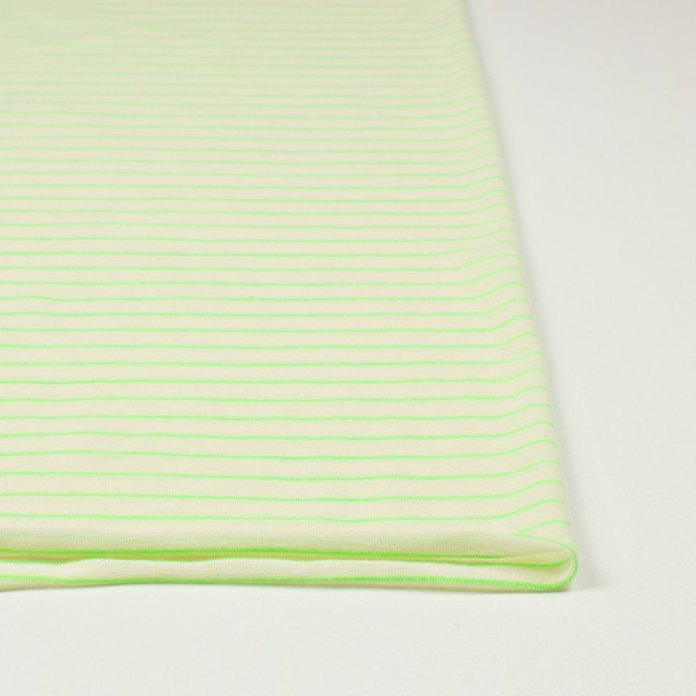 コットン&アクリル混×ボーダー(イエローグリーン)×天竺ニット_全4色 イメージ3