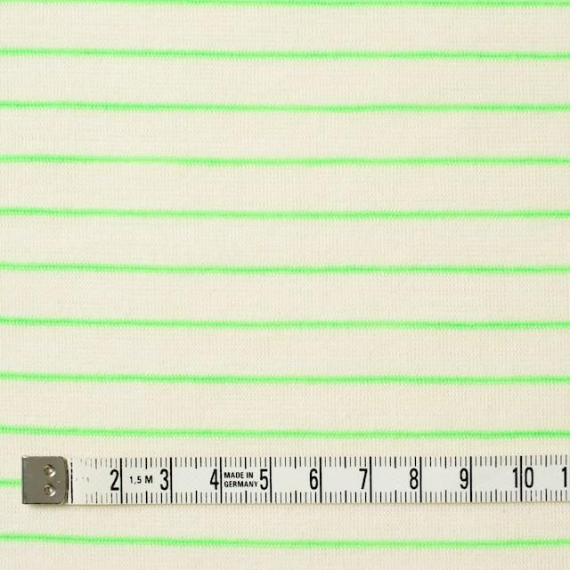 コットン&アクリル混×ボーダー(イエローグリーン)×天竺ニット_全4色 イメージ4