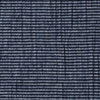コットン&ポリウレタン×ボーダー(インクブルー)×天竺ニット