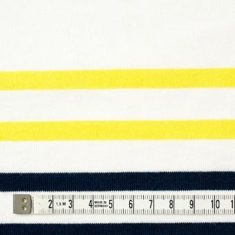 コットン×ボーダー(ホワイト&イエロー、ダークネイビー)×天竺ニット サムネイル4