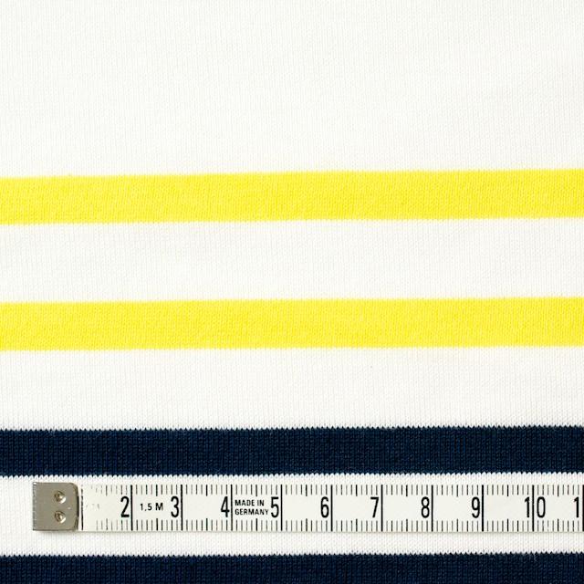 コットン×ボーダー(ホワイト&イエロー、ダークネイビー)×天竺ニット イメージ4