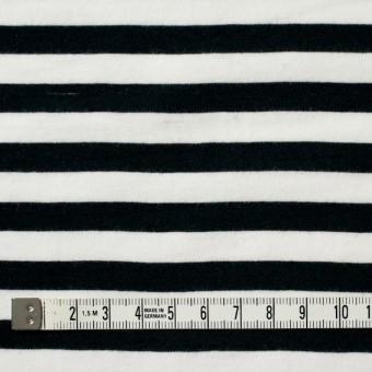 コットン×ボーダー(ホワイト&ブラック)×天竺ニット サムネイル4