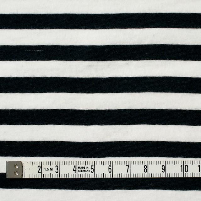 コットン×ボーダー(ホワイト&ブラック)×天竺ニット イメージ4