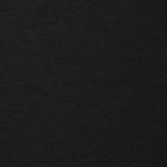 コットン×無地(ブラック)×スムースニット イメージ1