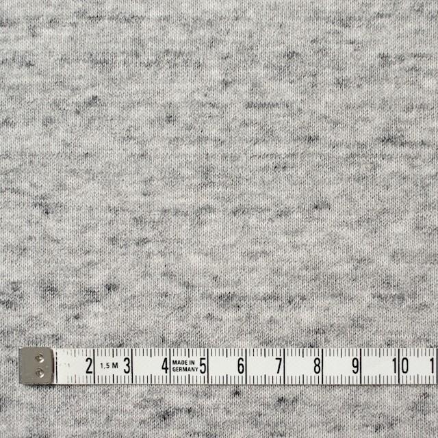 コットン×無地(杢グレー)×裏毛ニット イメージ4