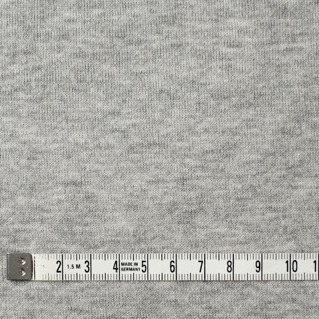 コットン×無地(グレー)×裏毛ニット イメージ4