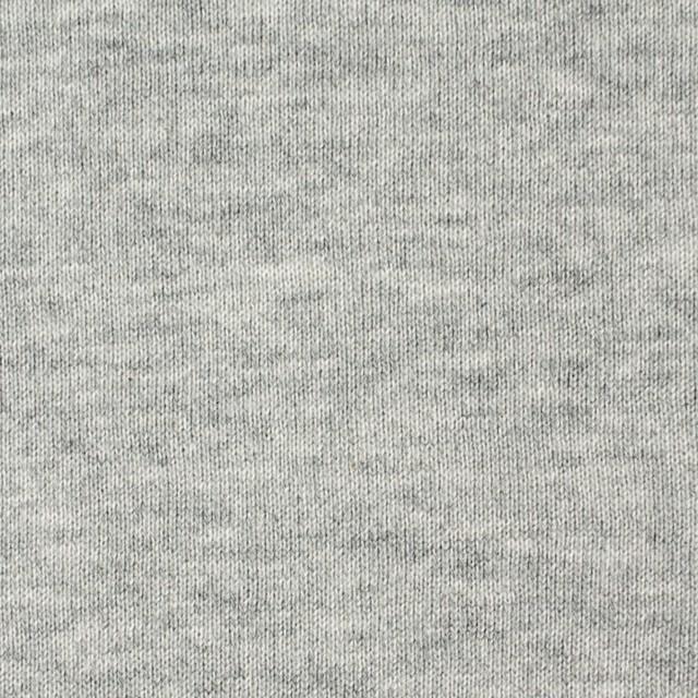 コットン×無地(グレー)×裏毛ニット イメージ1