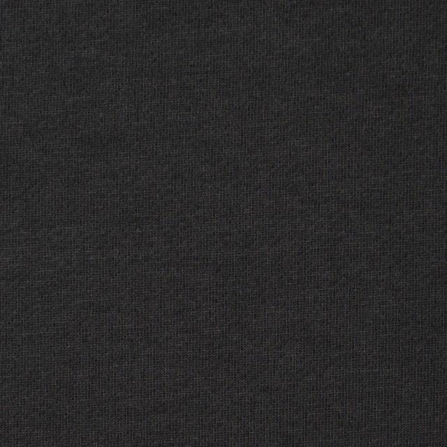 コットン×無地(チャコールブラック)×裏毛ニット イメージ1