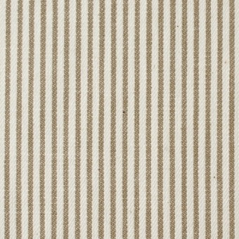 コットン×ストライプ(カーキベージュ)×かわり織 サムネイル1